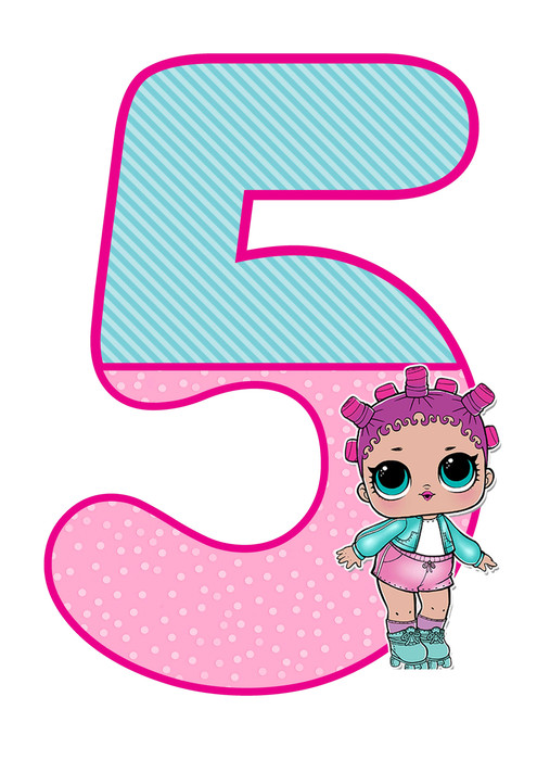 number 5 lol doll printable