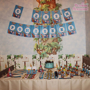 Данилу 3 года день рождения в стиле Робокар Поли фотографии