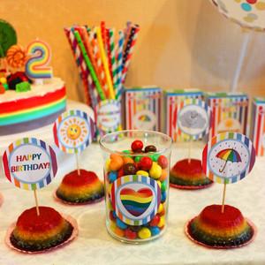 Милане 2 годика день рождения в стиле Радуга фотографии оформления дня рождения