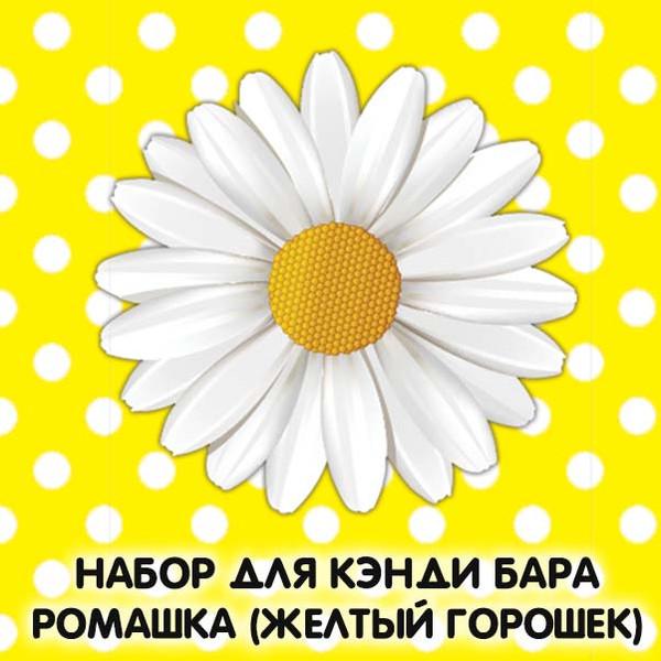 Набор для кэнди бара Ромашка (Желтый Горошек) шаблоны на день рождения скачать
