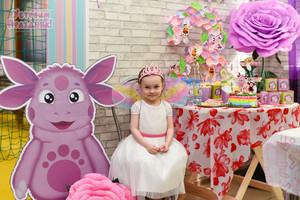 Маргаритке 3 годика - день рождения в стиле Лунтик фотографии оформления дня рождения и кэнди бара