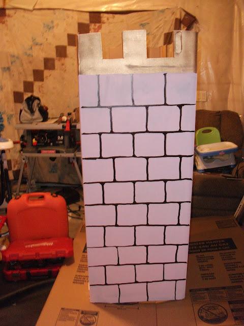 замок из картона как сделать из коробок