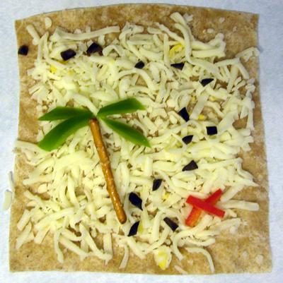 детский бутерброд карта сокровищ рецепт