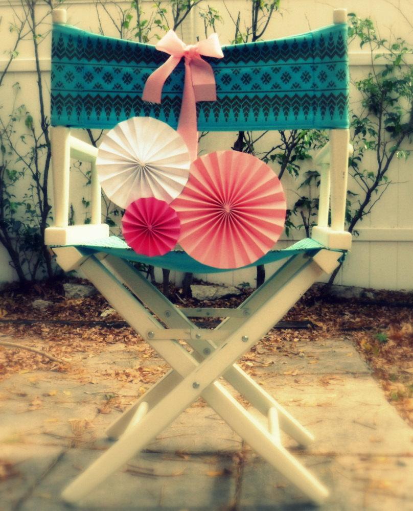 Украшение стула на день рождения