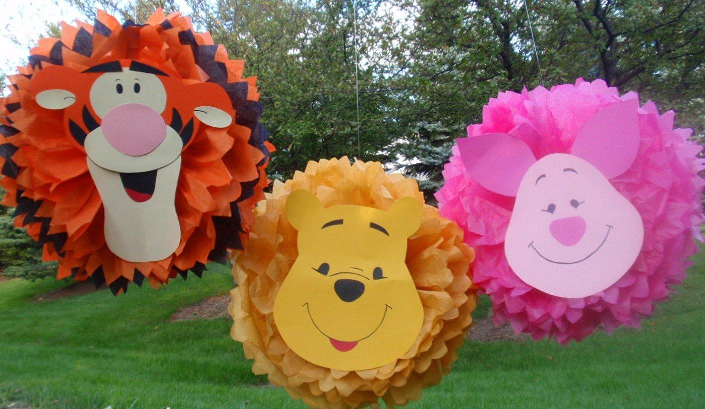 забавные персонажи из помпонов на день рождения Винни Пух и друзья
