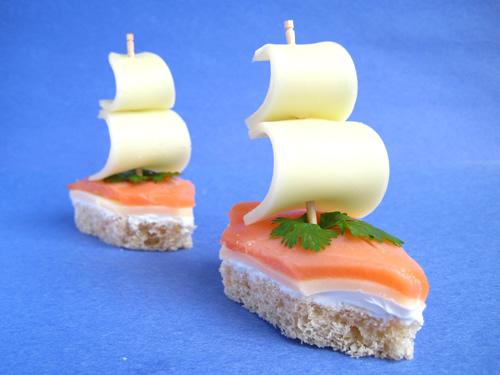 бутерброды белые паруса рецепт