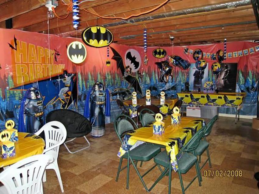 оформление на день рождения в стиле Бэтмен