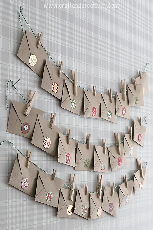 адвент-календарь из рулонов