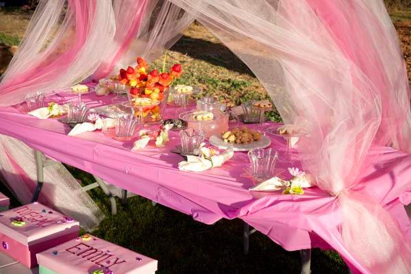 как оформить праздничный стол день рождения феи