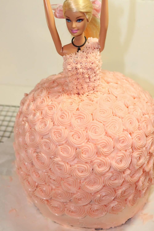 торт кукла Барби рецепт