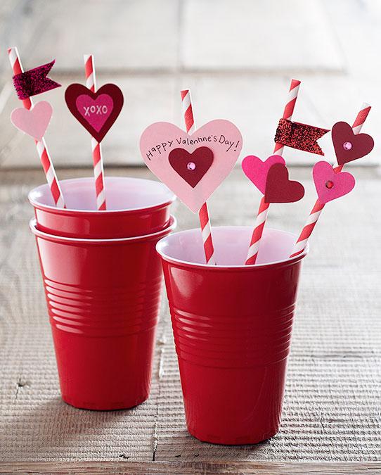 декор для соломинок СЕРДЕЧКО на день Валентина своими руками