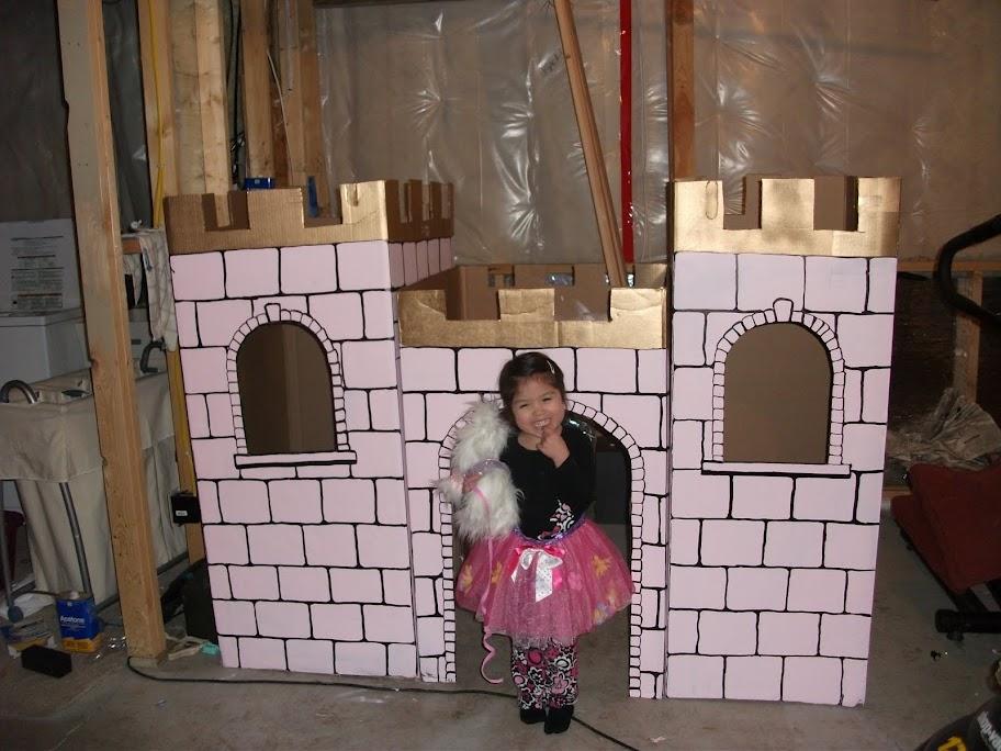 Замок из коробок своими руками картинки 85