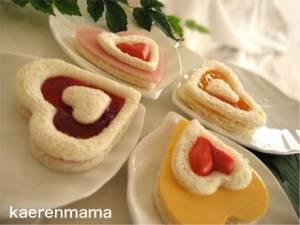 Сендвичи в форме сердца