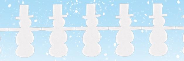 бесконечная гирлянда снеговики