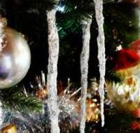 Сосульки - новогоднее украшение для елки своими руками
