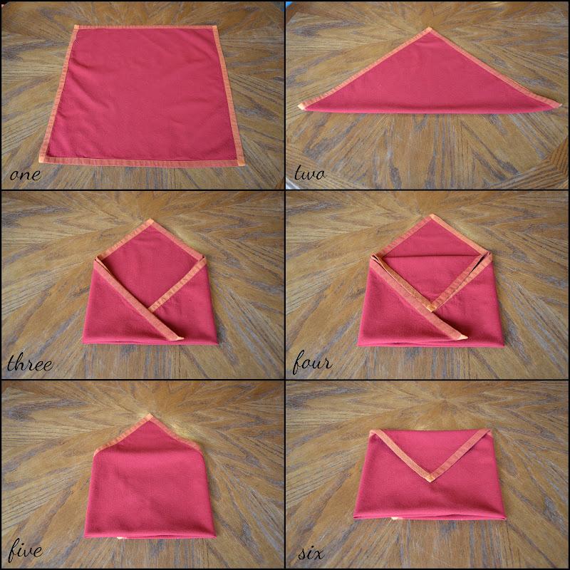как сложить конверт из салфетки