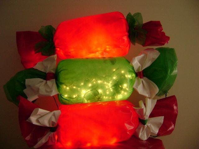 композиция из электрогирлянды как украсить на Новый год