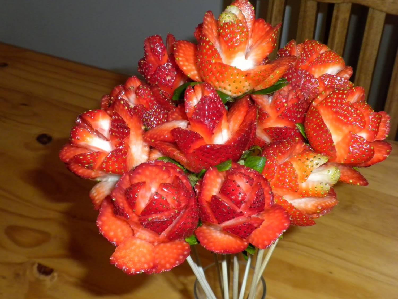 роза из клубники рецепт