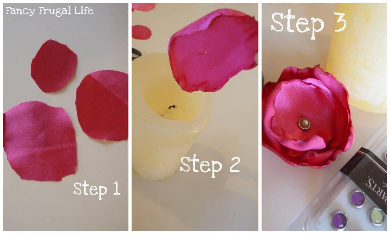 декоративная цифра 3 из тканевых цветов