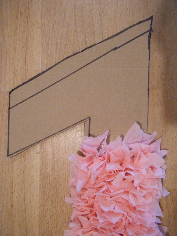 декоративная цифра из гофрированной бумаги методом торцевания