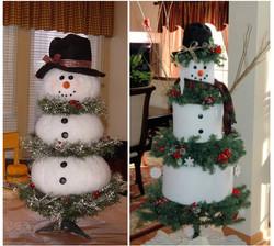 Елка-снеговик (Необычные новогодние елки)