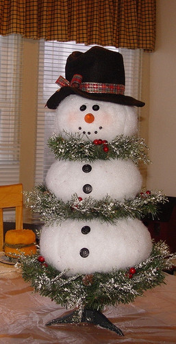 Елочка-снеговик