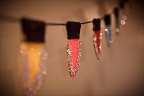 Новогодняя гирлянда своими руками «Новогодние огоньки»