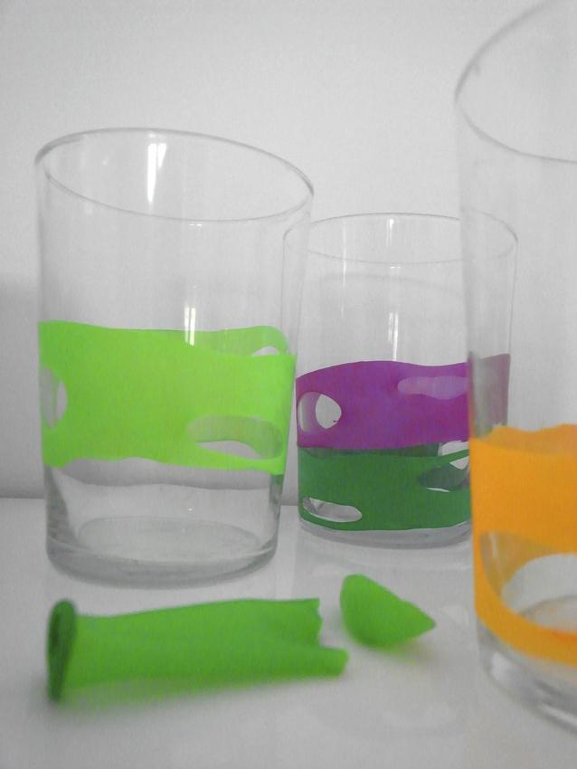 маркеры из воздушных шариков для стаканов