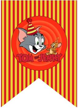 растяжка с днем рождения в стиле Том и Джерри скачать