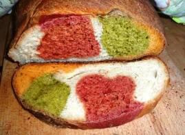 Австралийский овощной хлеб (цветной хлеб)