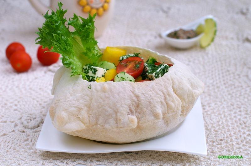хлебные салатницы - рецепт закуски