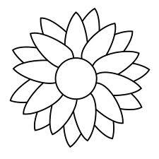 шаблон цветок