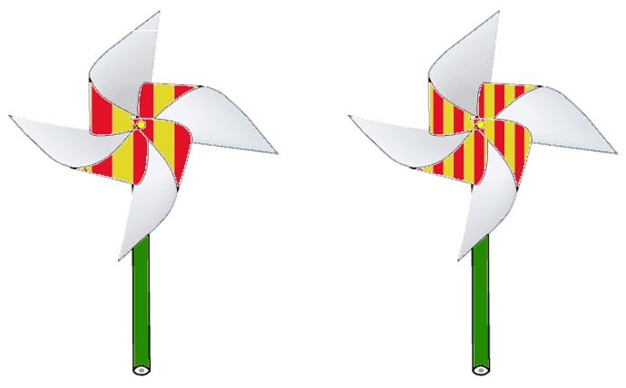 Шаблоны вертушек из бумаги в стиле «Том и Джерри» скачать бесплатно
