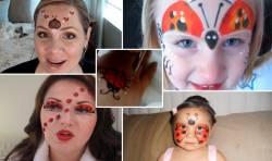 Пять видеоуроков аквагрима «Божья коровка» для детей для детского дня рождения