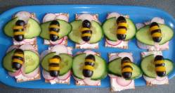 Канапе с «пчелками» рецепт
