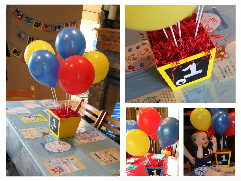 декор из воздушных шариков для стола на день рождения