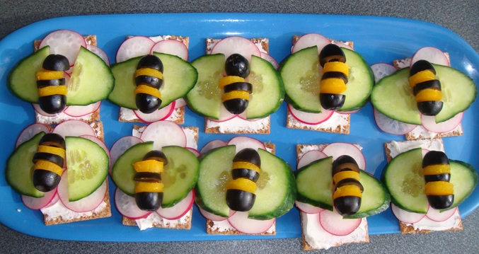 канапе с пчелками рецепт