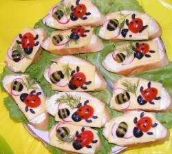 Бутерброд с букашками рецепт