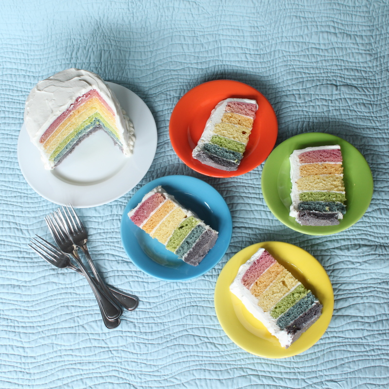торт радуга рецепт