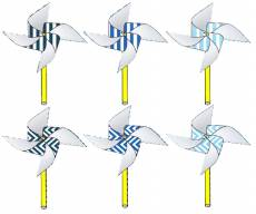 Вертушки из бумаги: полоска и зигзаг