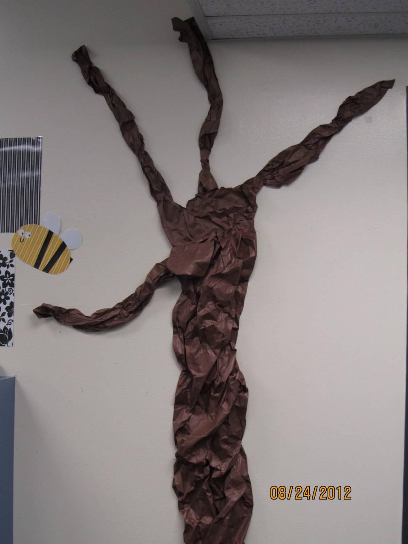 Как сделать сказочное дерево из бумаги