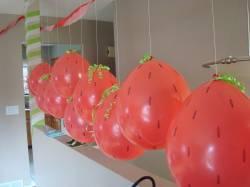 Клубнички из воздушных шариков как сделать