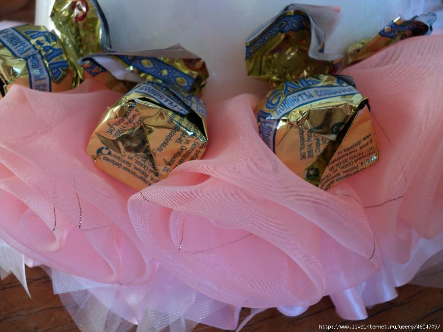 кукла в платье из конфет мастер класс