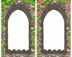 Рамка для фотосессии для рыцарей и принцесс «Окошко в замке (башне)»