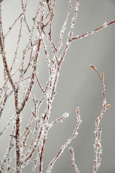 как сделать заснеженные ветки с помощью искусственного снега
