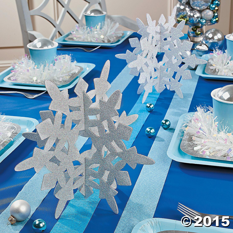 Как сделать снежинки: снежинки-конструктор