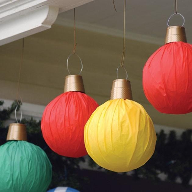 Новогодние большие шары своими руками фото