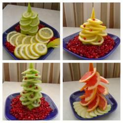 Съедобные фруктовые елочки от Евы (Yeva64)