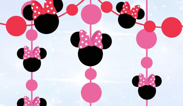 Гирлянда-подвеска головки Минни Маус (макеты)