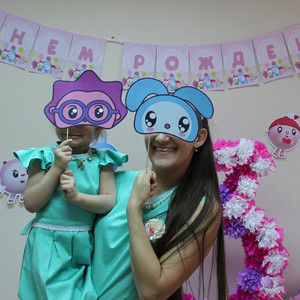 Три года Юлии - день рождения в стиле «Малышарики» фото